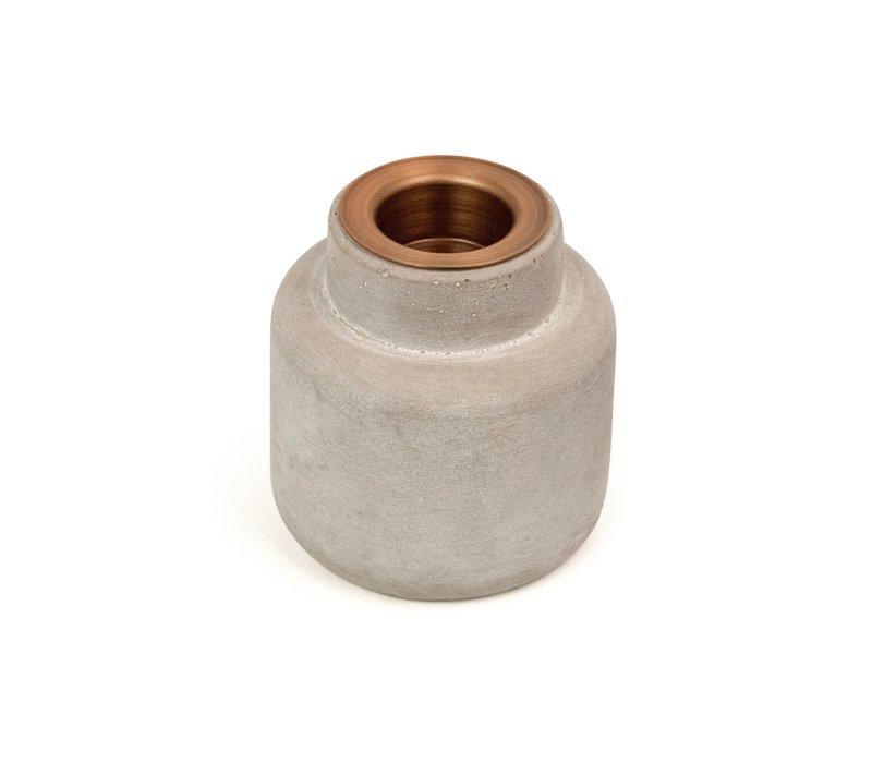 Theelicht 'Cement' S - set van 2 stuks