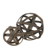 Decoration object 'Melville' set of 2 - Vintage Brass