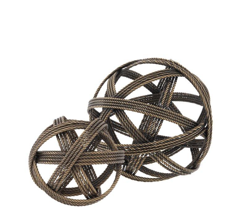 Decoration object 'Melvillle' set of 2 - Vintage Brass