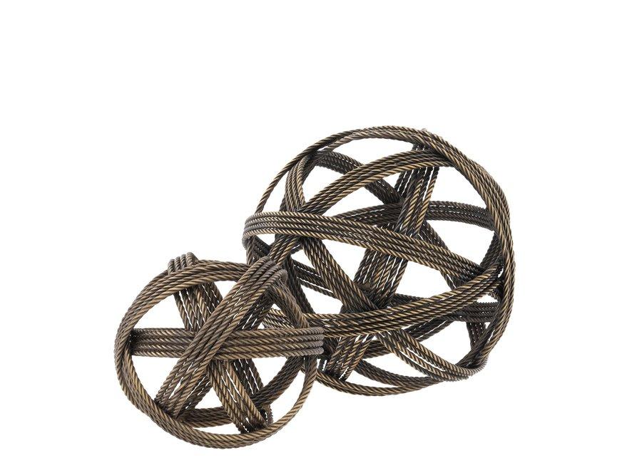 Decoratie object 'Melville' set van 2 - Vintage Brass