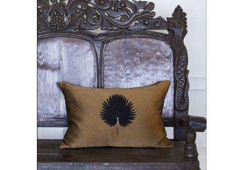 Leïlah Cushion Kava Black Fan Palm