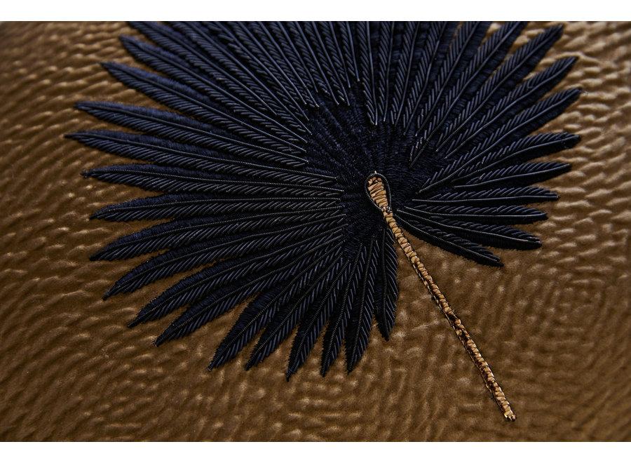 Kissen Kava Black Fan Palm