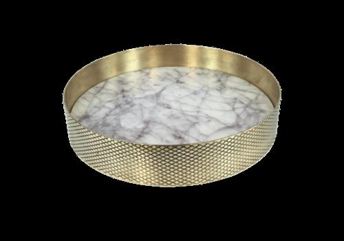 Mr. Pinchy & Co Tablett 'Orbit' weißer Marmor - Klein