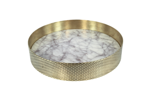 Mr. Pinchy & Co Tray 'Orbit' white marble - Small
