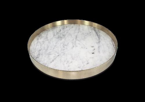 Mr. Pinchy & Co Tablett 'Orbit' weißer Marmor - Groß