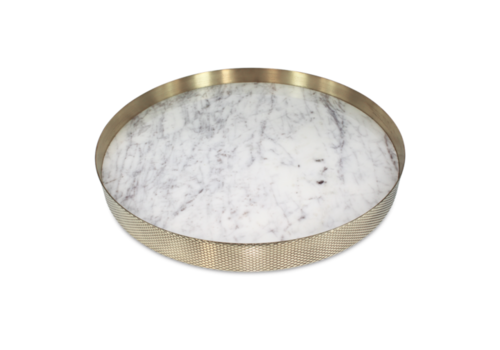 Mr. Pinchy & Co Tray 'Orbit' white marble - Large