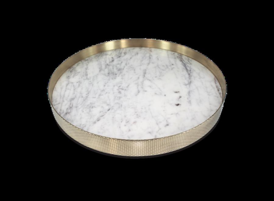 Dienblad 'Orbit' wit marmer - Large
