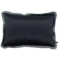 Throw pillow Sorella Denim + Fringe Iced Blue