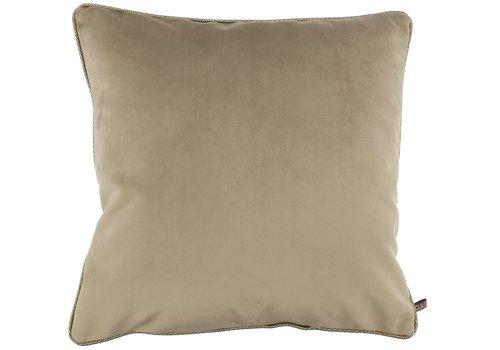 CLAUDI Cushion Astrid Dark Sand + piping diamante gold