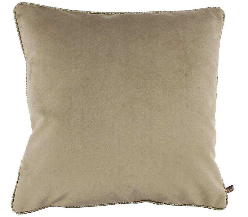 Cushion Astrid Sand + piping diamante gold