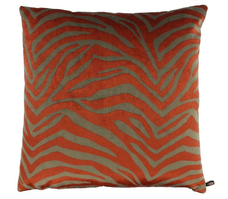 Throw pillow Morena Color Burned Orange
