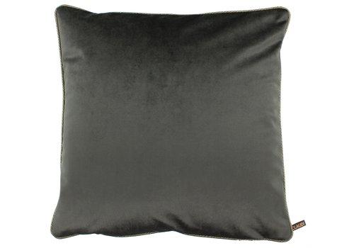 CLAUDI Cushion Astrid Dark Taupe + piping diamante gold