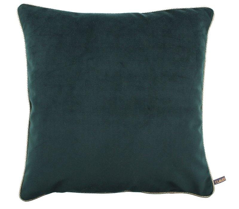 Cushion Astrid Emerald + piping diamante gold