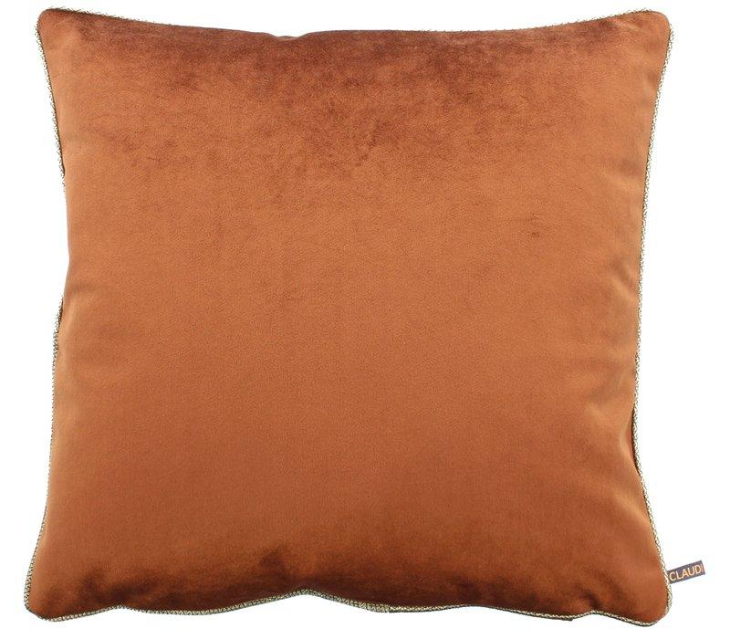 Cushion Astrid Copper + piping diamante gold