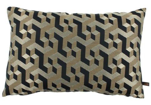 CLAUDI Cushion Milou Black / Gold