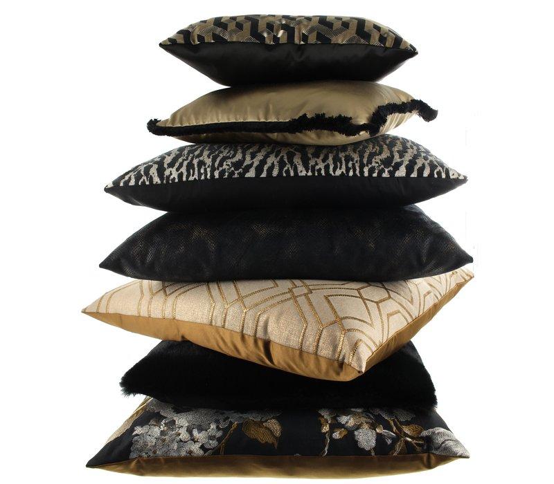 Throw pillow Milou Black / Gold