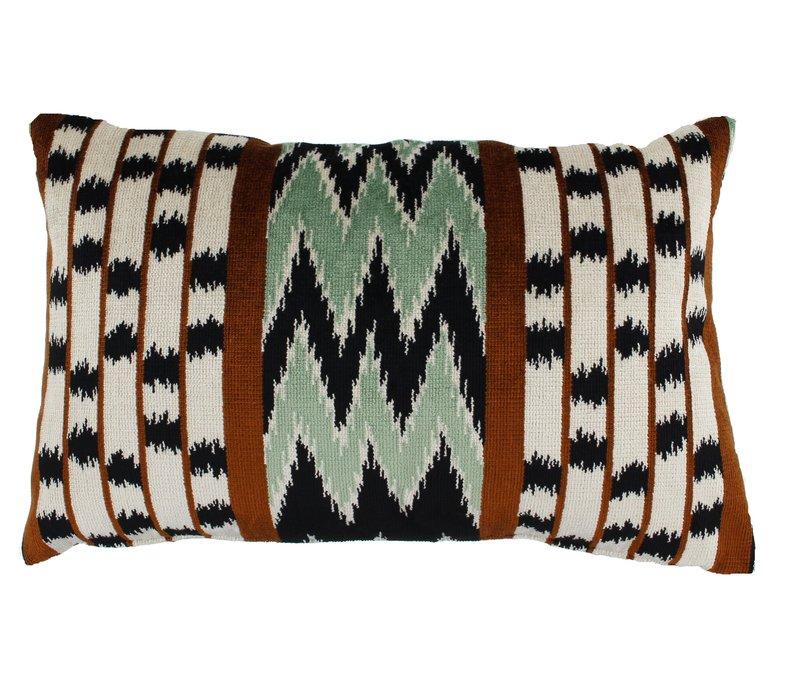 Throw pillow Evelien Bronze