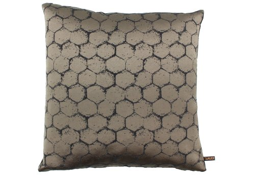 CLAUDI Cushion Christy Dark Taupe