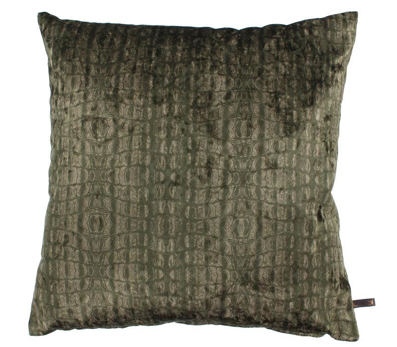 Throw pillow Cora Ice Dark Olive