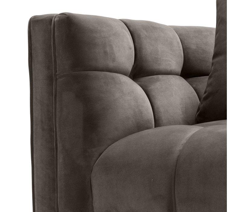 'Sienna' Savona Grey Velvet Armchair