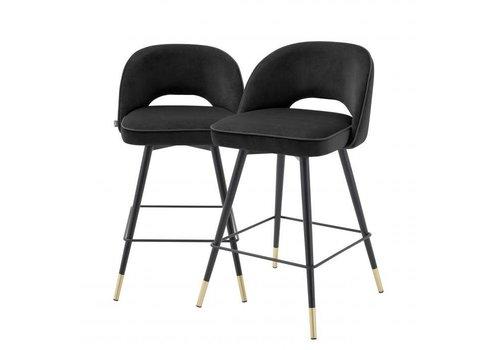 EICHHOLTZ Counter stoel Cliff set van 2 - Roche black