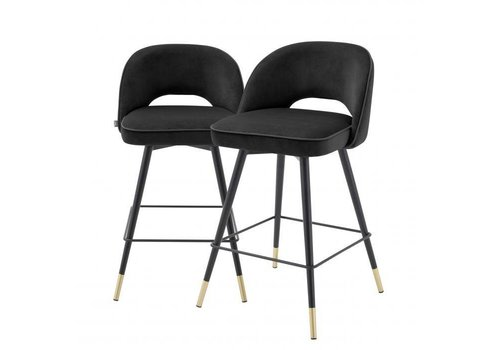 EICHHOLTZ Counter stool Cliff set of 2 - Roche black