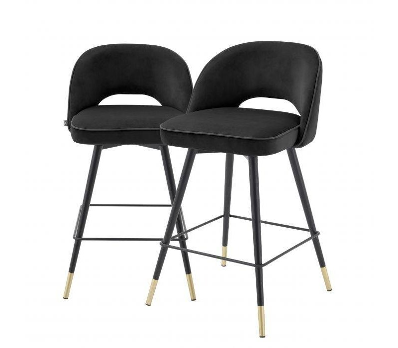 Counter stoel 'Cliff' set van 2 - Roche black