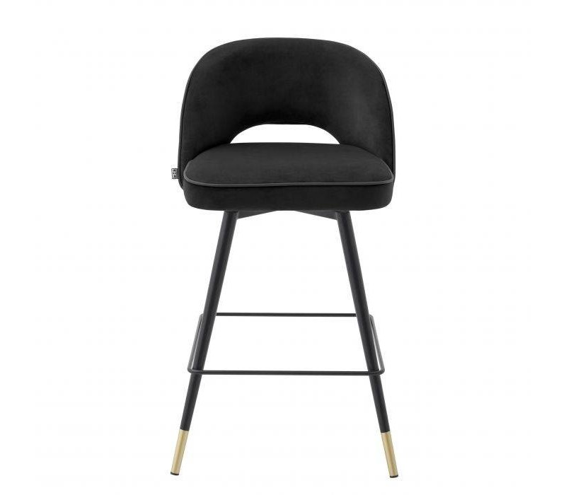 Counter stool 'Cliff' set of 2 - Roche black