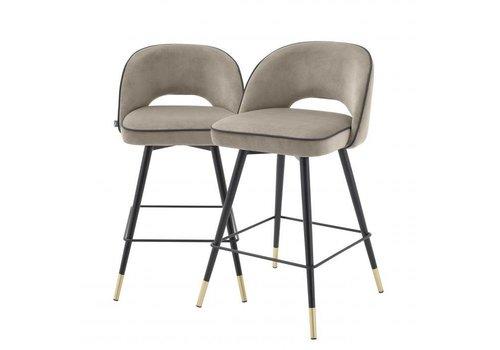 EICHHOLTZ Counter stool Cliff 2er Set - Savona greige