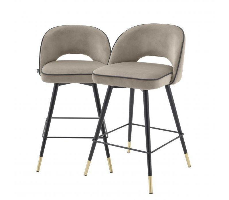 Counter stool 'Cliff' set of 2 - Savona greige