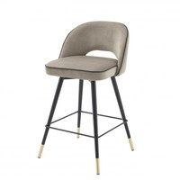 Counter stool 'Cliff' 2er Set - Savona greige