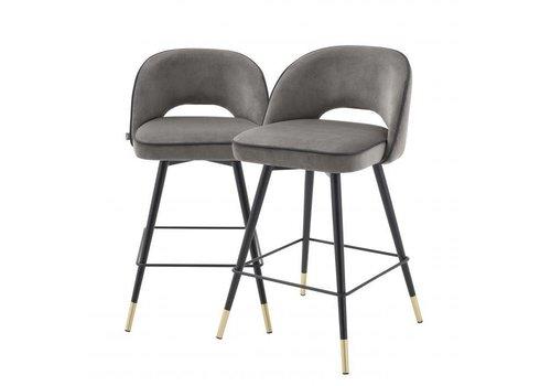 EICHHOLTZ Counter stool Cliff 2er Set - Savona grey