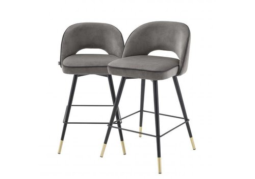 EICHHOLTZ Counter stool Cliff set of 2 - Savona grey