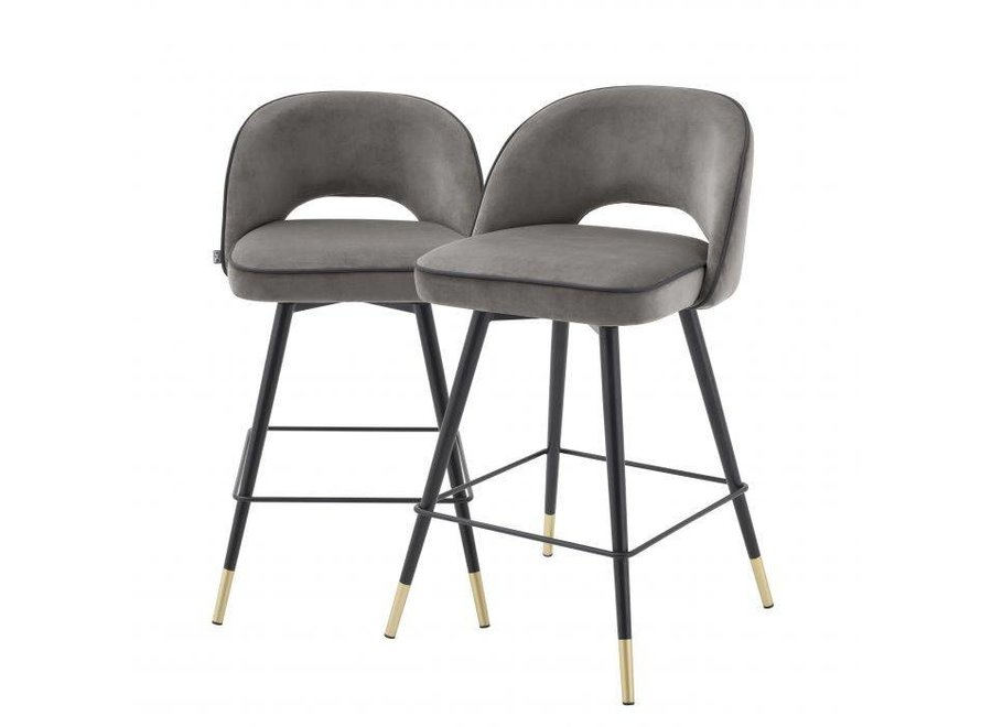 Counter stoel 'Cliff' set van 2 - Savona grey
