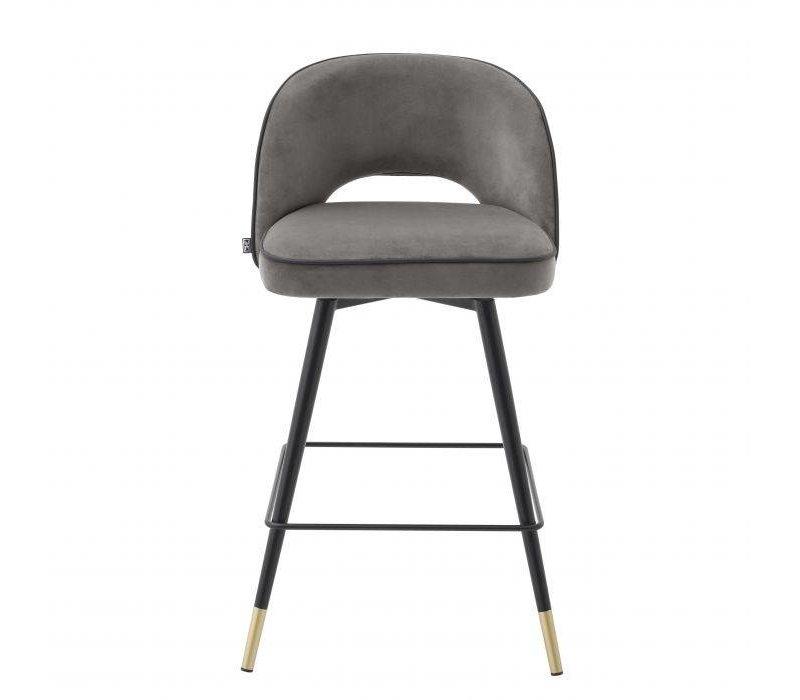 Counter stool 'Cliff' set of 2 - Savona grey