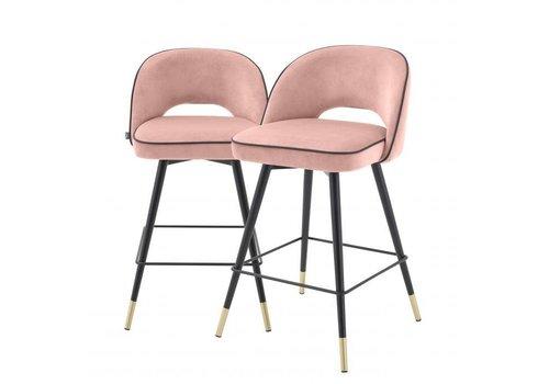 EICHHOLTZ Counter stoel Cliff set van 2 - Savona nude