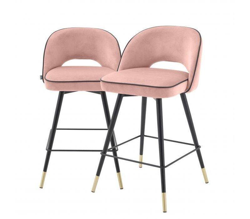 Counter stoel 'Cliff' set van 2 - Savona nude
