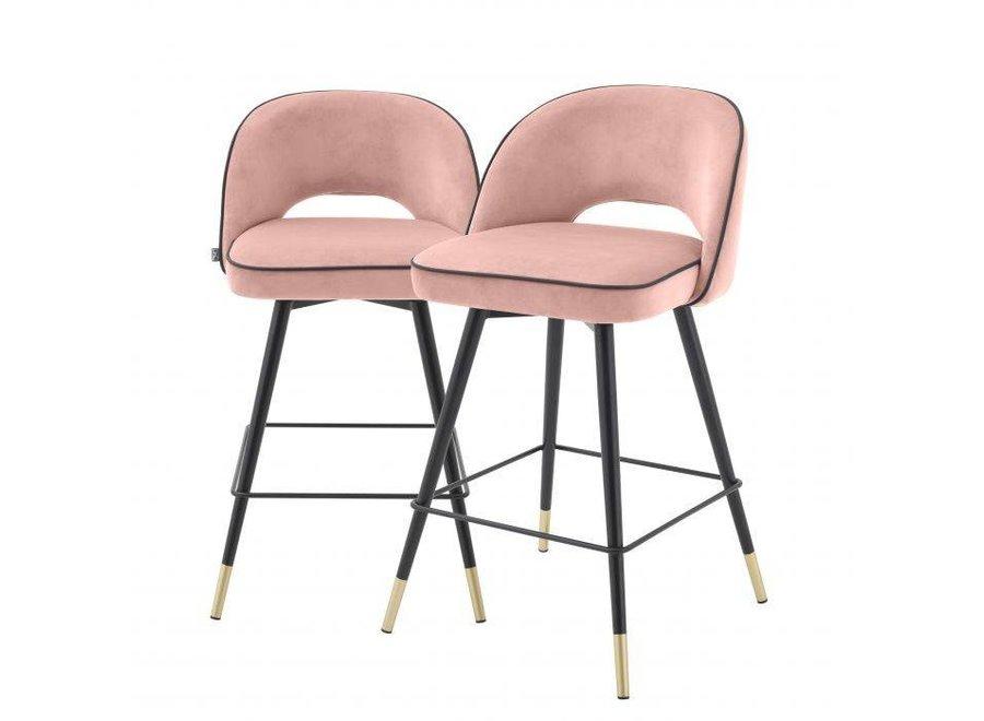 Counter stoel Cliff set van 2 - Savona nude