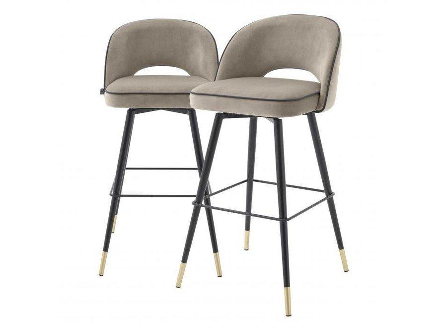 Bar stoel Cliff set van 2 - Savona greige