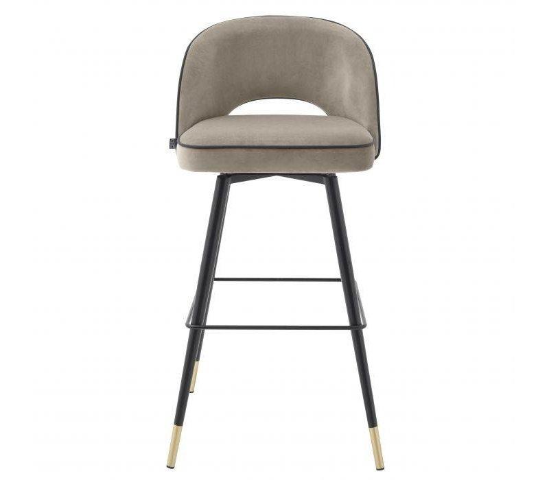 Bar stool 'Cliff' 2er Set - Savona greige