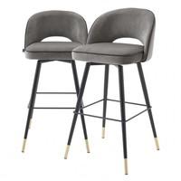Bar stoel 'Cliff' set van 2 - Savona grey