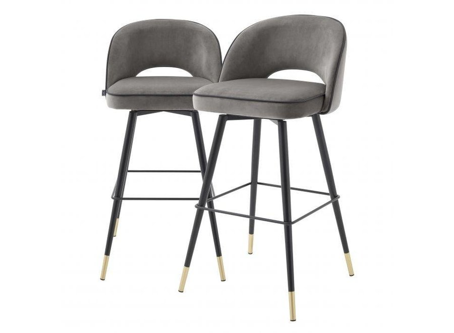 Bar stoel Cliff set van 2 - Savona grey