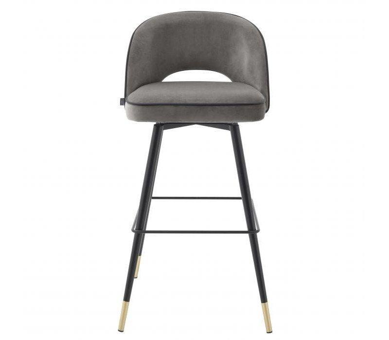 Bar stool 'Cliff' set of 2 - Savona grey