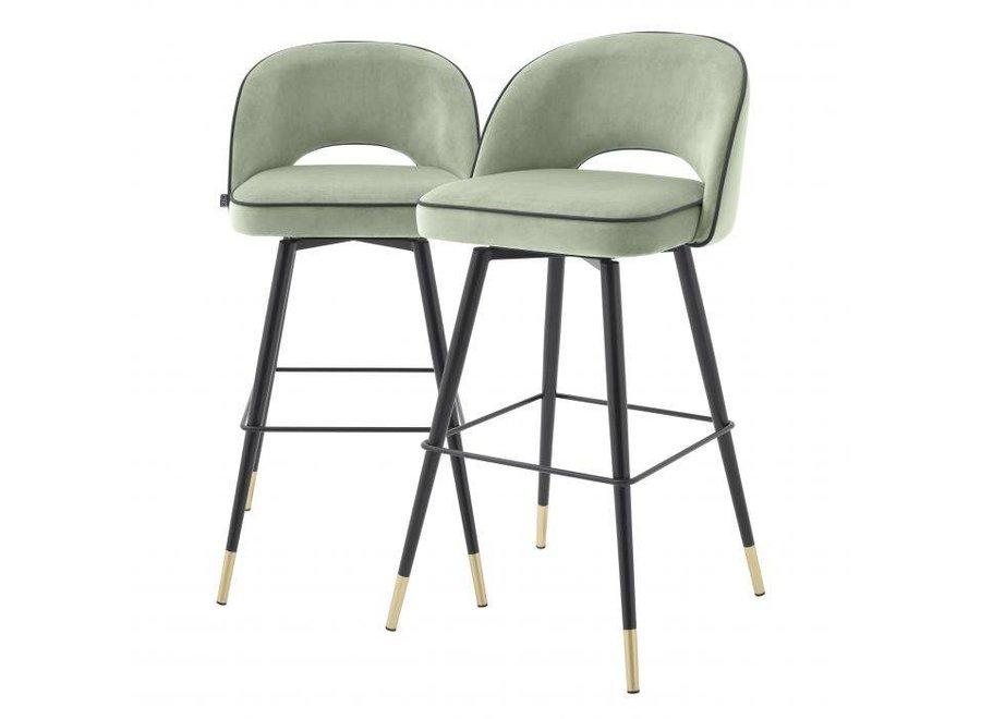 Bar stoel 'Cliff' set van 2 - Savona pistache green