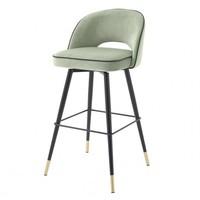 Bar stool 'Cliff' set of 2 - Savona pistache green
