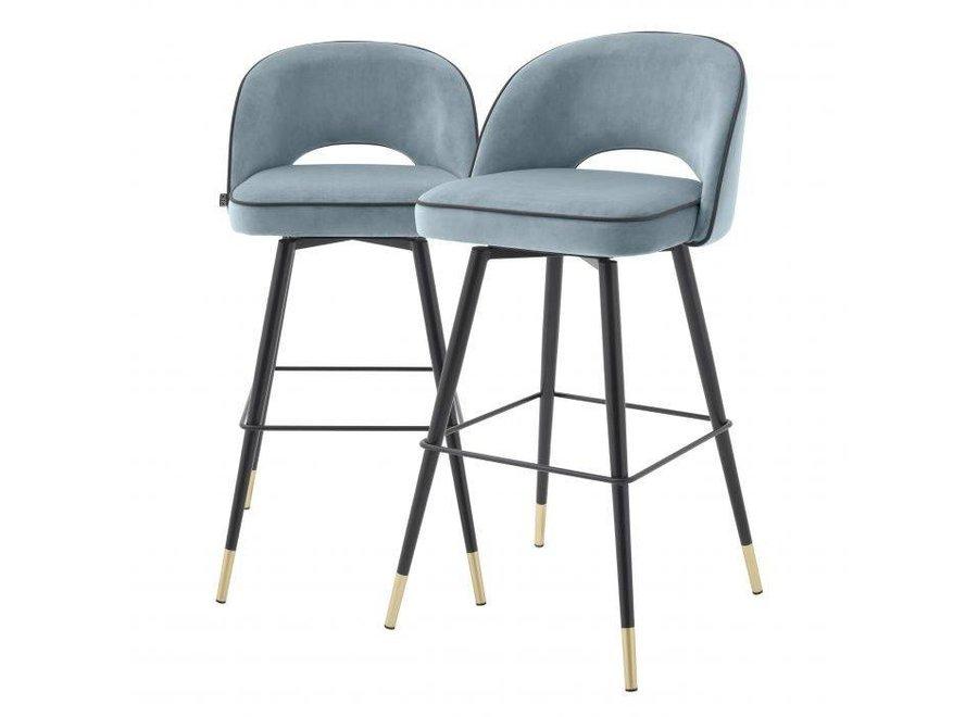 Bar stoel Cliff set van 2 - Savona blue