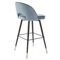 Bar stool 'Cliff' set of 2 - Savona blue