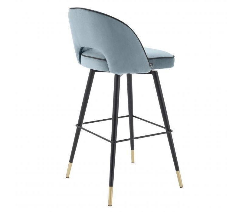 Bar stoel 'Cliff' set van 2 - Savona blue