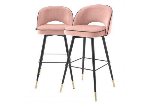 EICHHOLTZ Bar stoel Cliff set van 2 - Savona nude