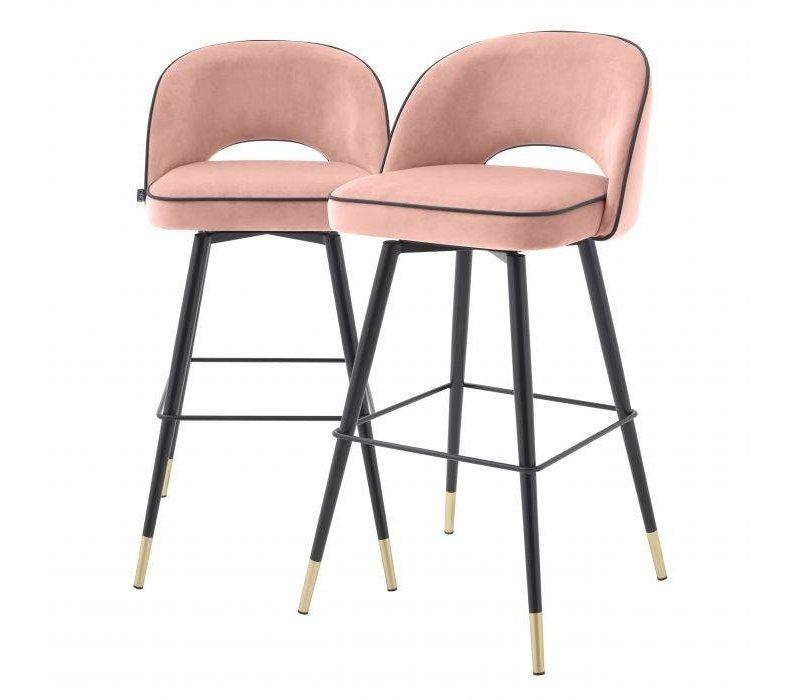 Bar stoel 'Cliff' set van 2 - Savona nude